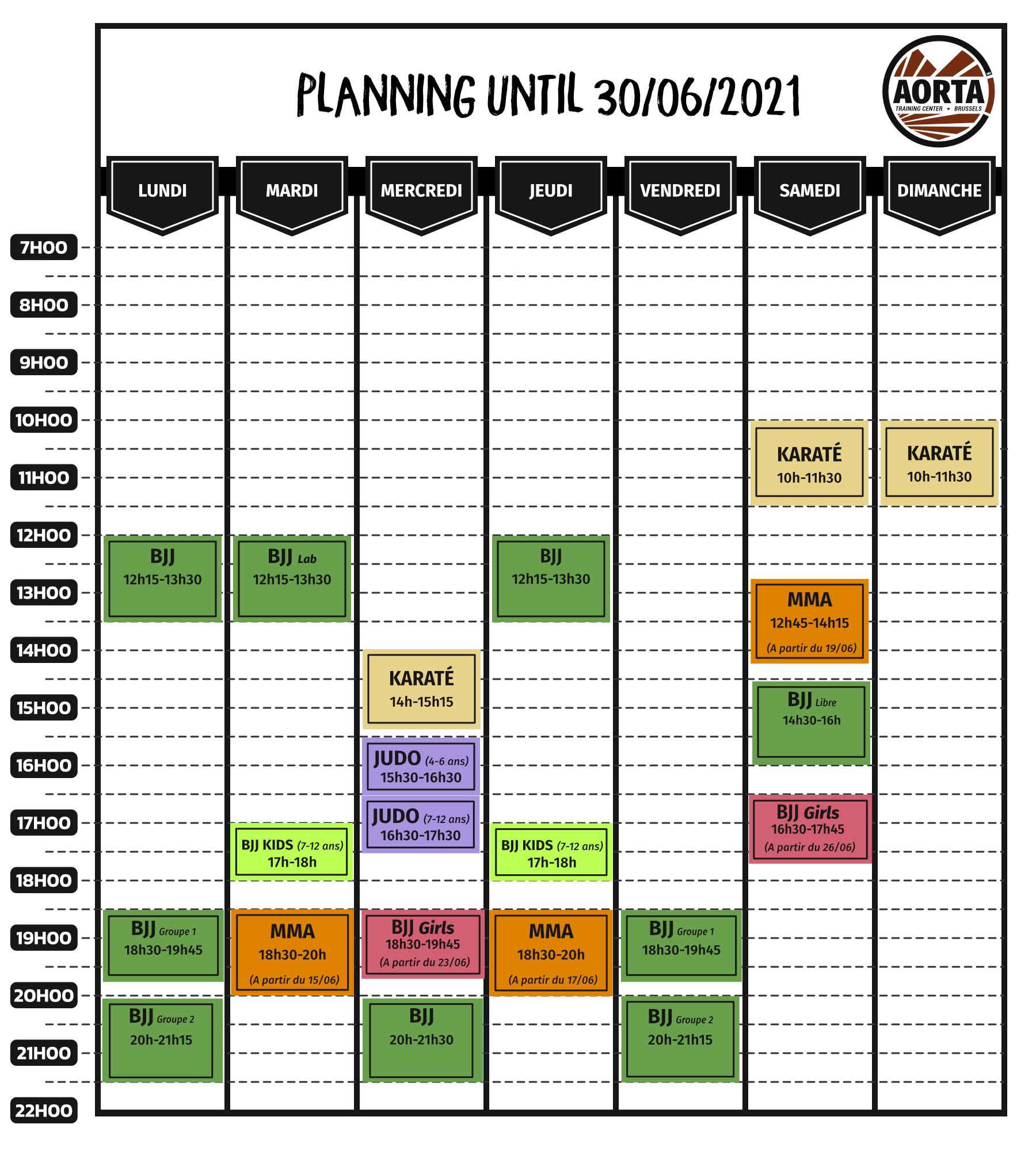 Planning summer until June 30th